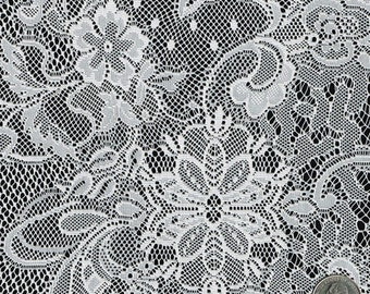 Free Shipping Mistique Vintage Black Lace Fabric By The Yard