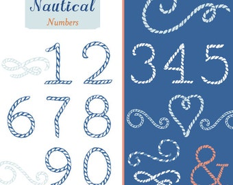 CLIP ART - Nautical Numbers - for commercial and personal use
