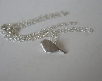 Tiny Silver Bird Necklace, Bird Jewelry, Silver Jewelry, Silver Necklace, Minimal Style Jewelry, Handmade Necklace, Silver Bird