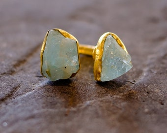 Raw Gemstone Adjustable  Ring