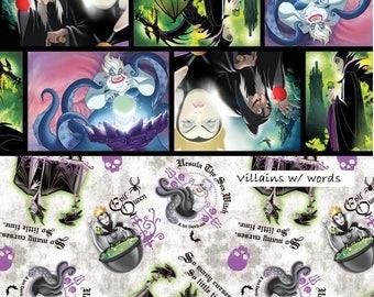 Disney Villains, Villain Patch, Springs Creative Fabric, 1/2 Yard