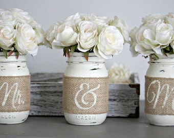 Mason jar centerpieces perfect for your big day.