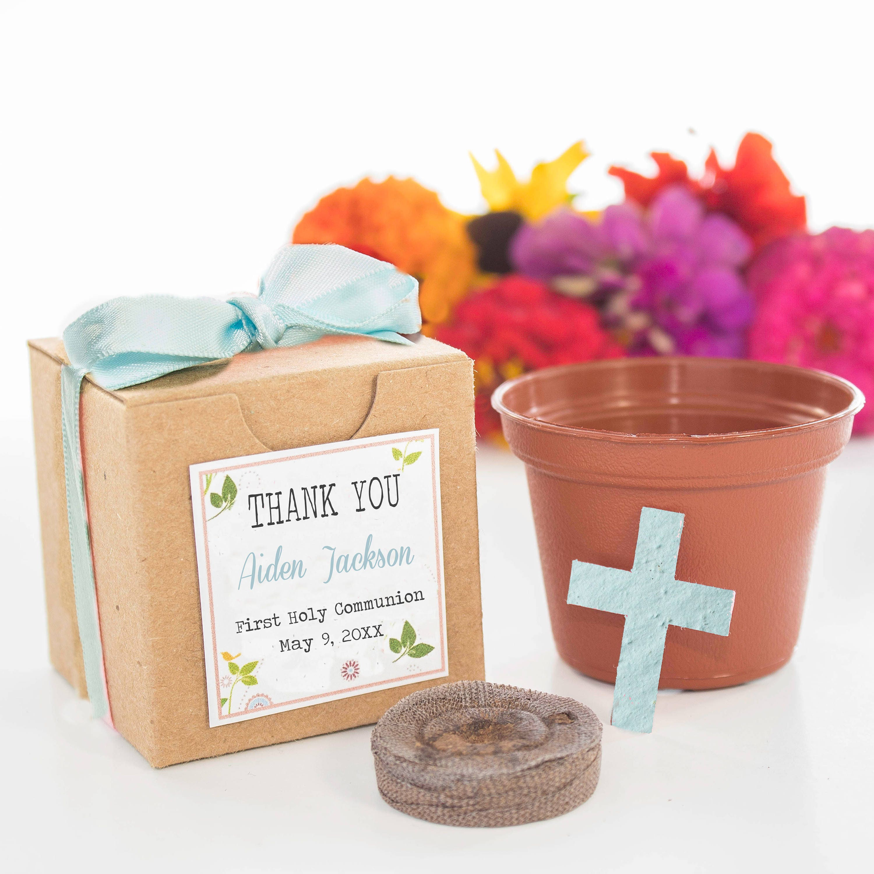 Mini Seed Paper Cross Garden Kit Party Favor Gift Customized