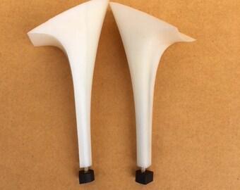 """Pair of  women high 4 1/2"""" (11.3 cm) plastic heels  with heel tips for shoemaking/cobbler shoe repair"""