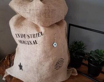 Industrial style jute bag