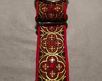 RED RADIANT RINGS #401 Martingale Collar