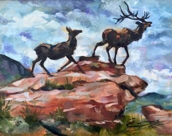 CUSTOM FRAMED Yellowstone II, original oil painting