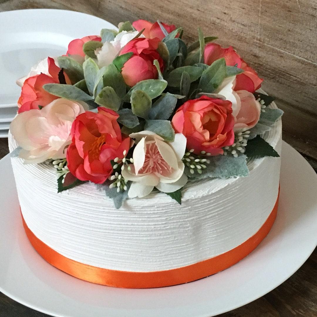 Flower Cake Topper Roses Cake Topper Birthday Cake Flowers