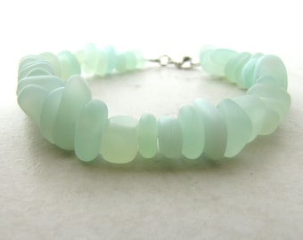 Seaglass Bracelet, Sea Glass Bracelet, Seaglass Jewelry, Beachglass Bracelet, Beach Wedding, Ocean Bracelet, Sea, Waves, Mermaid, Beach