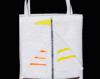 Sailboat gift card bag