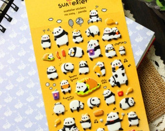 Kawaii Panda Planner Stickers