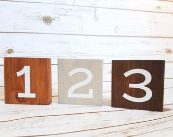 Wooden Table Numbers, One Sided Table Numbers, Wedding Decors, Wedding Table Numbers, Wedding Reception Decor, Events, Rustic Table Numbers