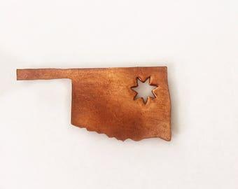 Magnet Cherokee Star Lapel Hat Tsalagi Cherokee Made