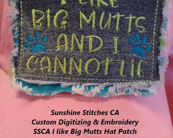SSCA I Like Big Mutts Hat Patch