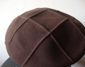 Vintage Brown Wool Beret