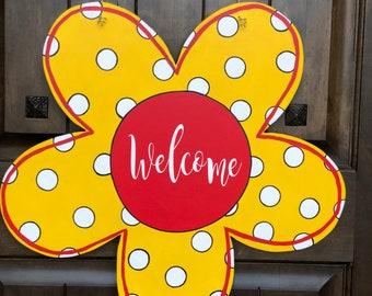 Flower Door Hanger, summer door hanger, summer wreath, spring door hanger, spring wreath, front door decor