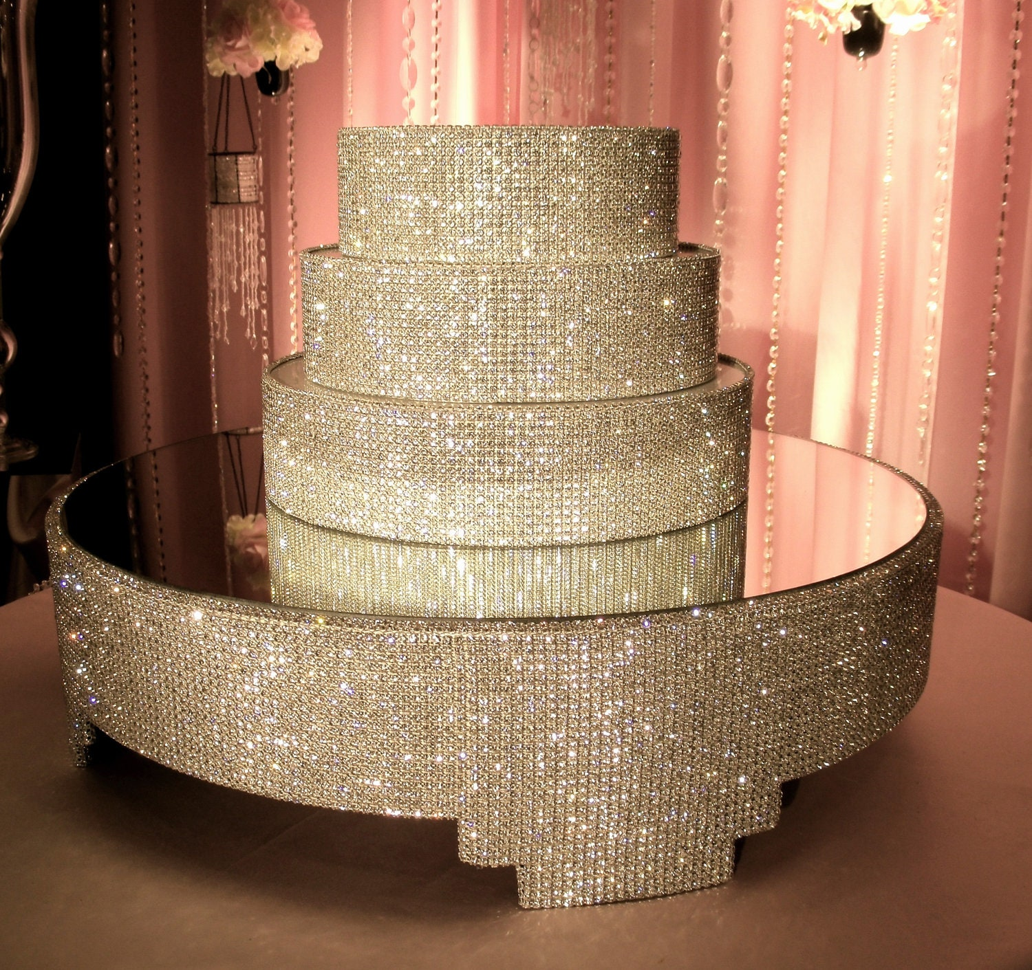 Crystal Cake Stand and Separators Package