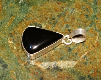 Sterling Silver and Black Onyx Pendant