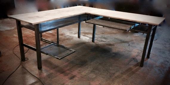 l desk l shaped desk modern industrial desk computer desk. Black Bedroom Furniture Sets. Home Design Ideas