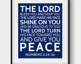 60% OFF The Lord Bless You And Keep You, Bible Verse Print, Numbers 6:24-26, Christian Decor, Bible Verse Gift, Printable Scripture