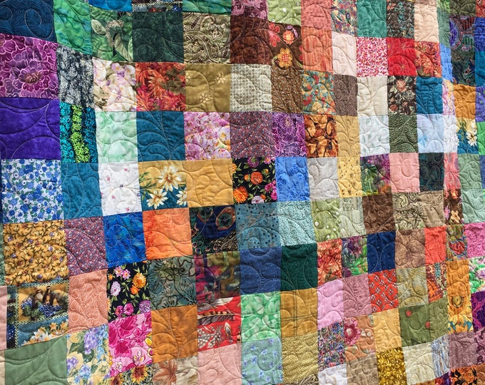 Queen Quilts - Quilt - Patchwork Quilts - Ready to Ship - Quilted Blanket