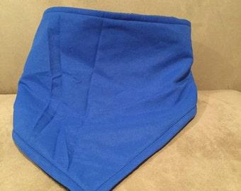 Fleece lined bandanas/neckwarmers with adjustable velcro closure.
