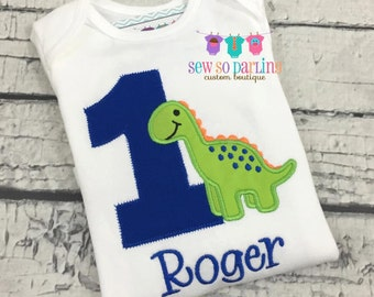 1st Birthday Dinosaur Shirt  -Baby Boy Dinosaur Birthday Outfit - Dinosaur Birthday Shirt -  Birthday shirt for boys - 2nd birthday dinosaur