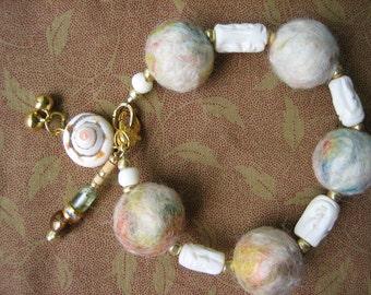 Wool Felt Bracelet - Spindrift