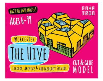 The Hive, Worcester || FoxeTroo Cut-Out Paper Model Kit for Kids || Pack of Two Models