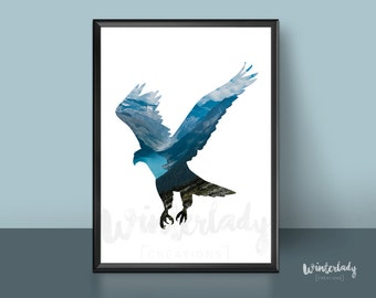 Eagle photography poster  | Printable | Instant Download