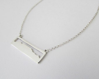 Table mountain, necklace, cape town,  pendant, south africa, sterling silver, jewelry, ct waterfront