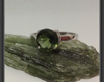 Moldavite ring US size 6.75