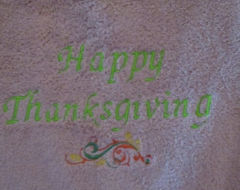 Thanksgiving Bath Towels (set of two)