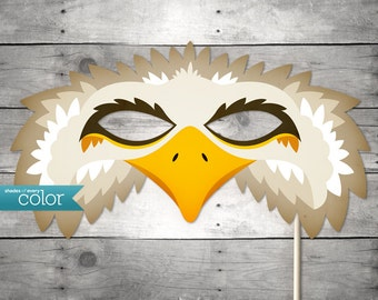 DIY Printable Eagle Mask - Mardi Gras, Birthdays, Masquerade Ball, Weddings, or Halloween