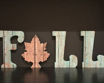 Shabby Chic Fall Wood Letters
