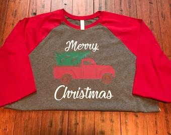 Vintage Christmas Truck Shirt- Christmas Shirt- Christmas Truck Shirt