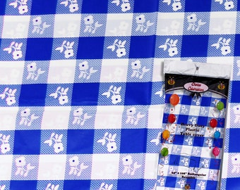 Blue/white Gingham print tablecloth, picnic tablecloth, blue gingham, blue checker print
