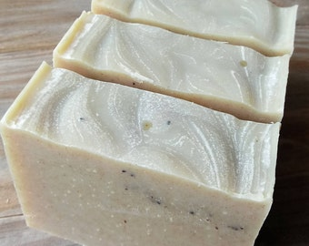 Tea Tree + Lime Soap | Grass Fed Tallow Soap with Kelp and Poppy Seed | Handmade All Natural Cold Process Soap | Essential Oils Soap
