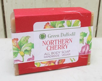 Northern Cherry  Bar of Soap - Green Daffodil