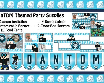 DanTDM Themed Party Supplies
