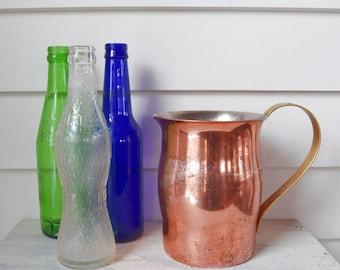 Vintage Copper Brass Pitcher