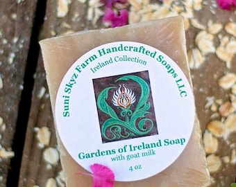 Gardens of Ireland Soap - Irish Soap - Ireland Collection - Spa Soap - Goat Milk Soap - Natural Soap - Handmade Soap - Suni Skyz Farm Soap
