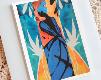 "Art postcard ""tropical"""