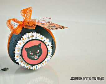 Halloween Favor Surprise Ball Vintage Novelty Black Cat