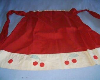 Vintage handmade apron with cherries!