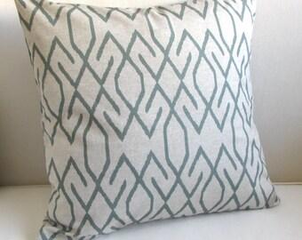 ZOE POOL mist/gray decorative  pillow cover 18x18 20x20 22x22 24x24 26x26 12x20 13x26
