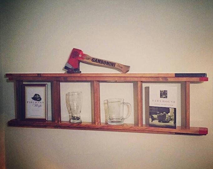 Wood Fire Sevice Ladder replica Shelf.