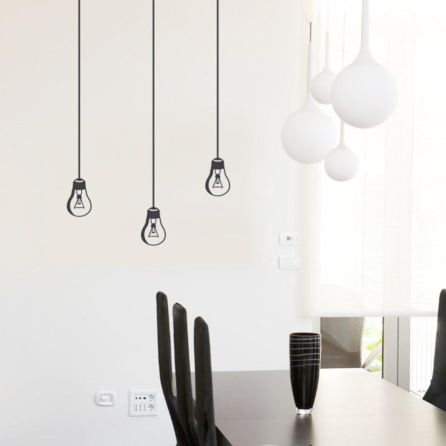 Hanging Lamp Wall Sticker: Hanging Light Bulb Wall Decal Light Bulb Decal Lamp Decal