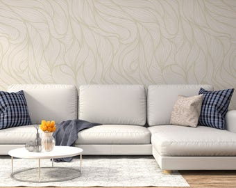 Leaves Adhesive Wallpaper Removable Wall