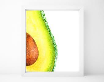 Avocado Print, Food Art, Food Print, Kitchen Print, Kitchen Wall Art, Kitchen Wall Decor, Printable Wall Art